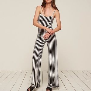 Striped reformation jumpsuit